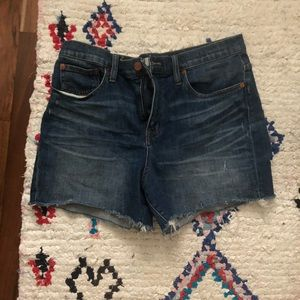 Madewell Highrise Denim Shorts 30